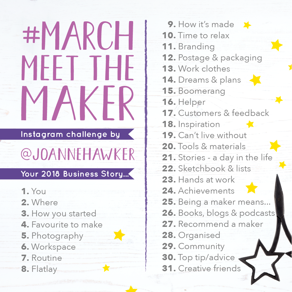 Joanne Hawker, March Meet The Maker, Awesome Merchandise, Maker