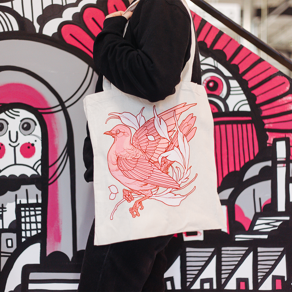 Sneaky Mitch, The Travelling Canvas, tote bag , Design , tattooist, Awesome Merch