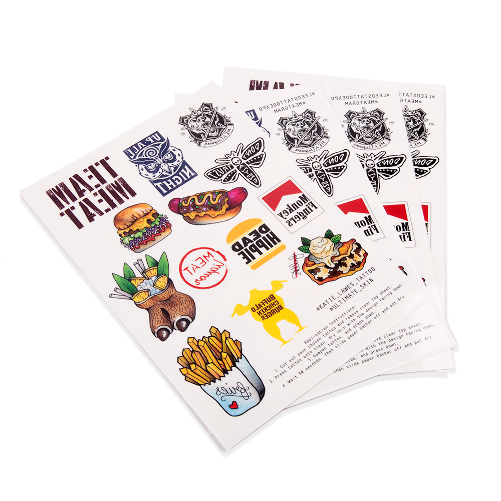 meat liqour, temporary tattoos, Awesome Merchandise